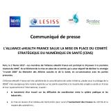 L'alliance eHealth France salue la mise en place du CSNS