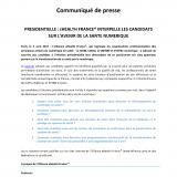 EHealth France interpelle les candidats sur l'avenir de la santé numérique